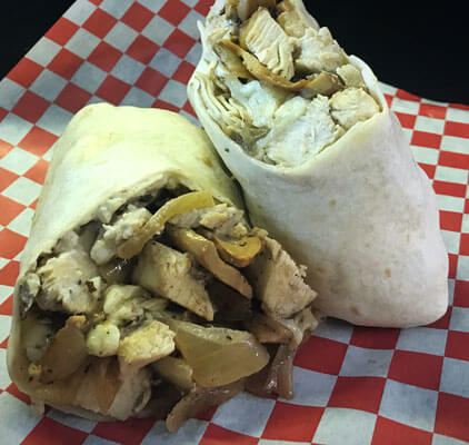 SWAT Chicken Philly Wrap